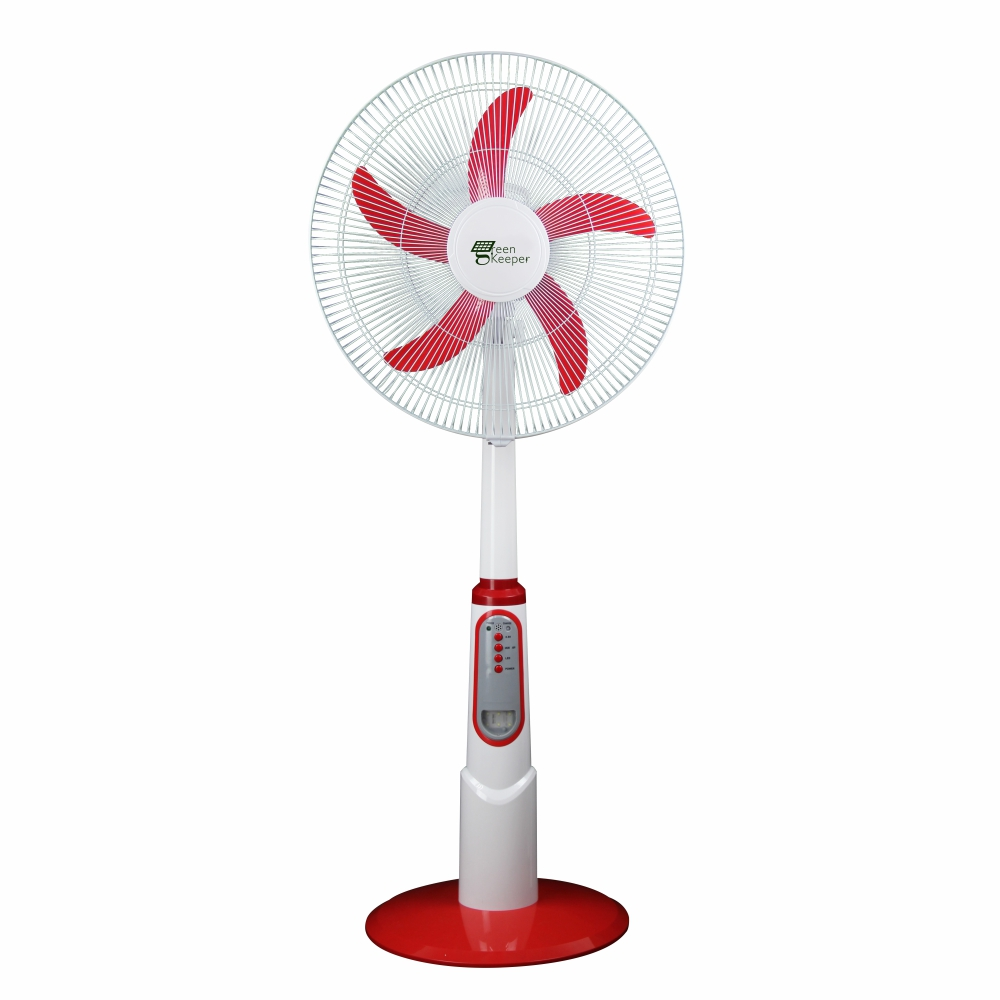 MODEL:GK-2638B-2  18inch Solar Rechargeable AC/DC stand fan