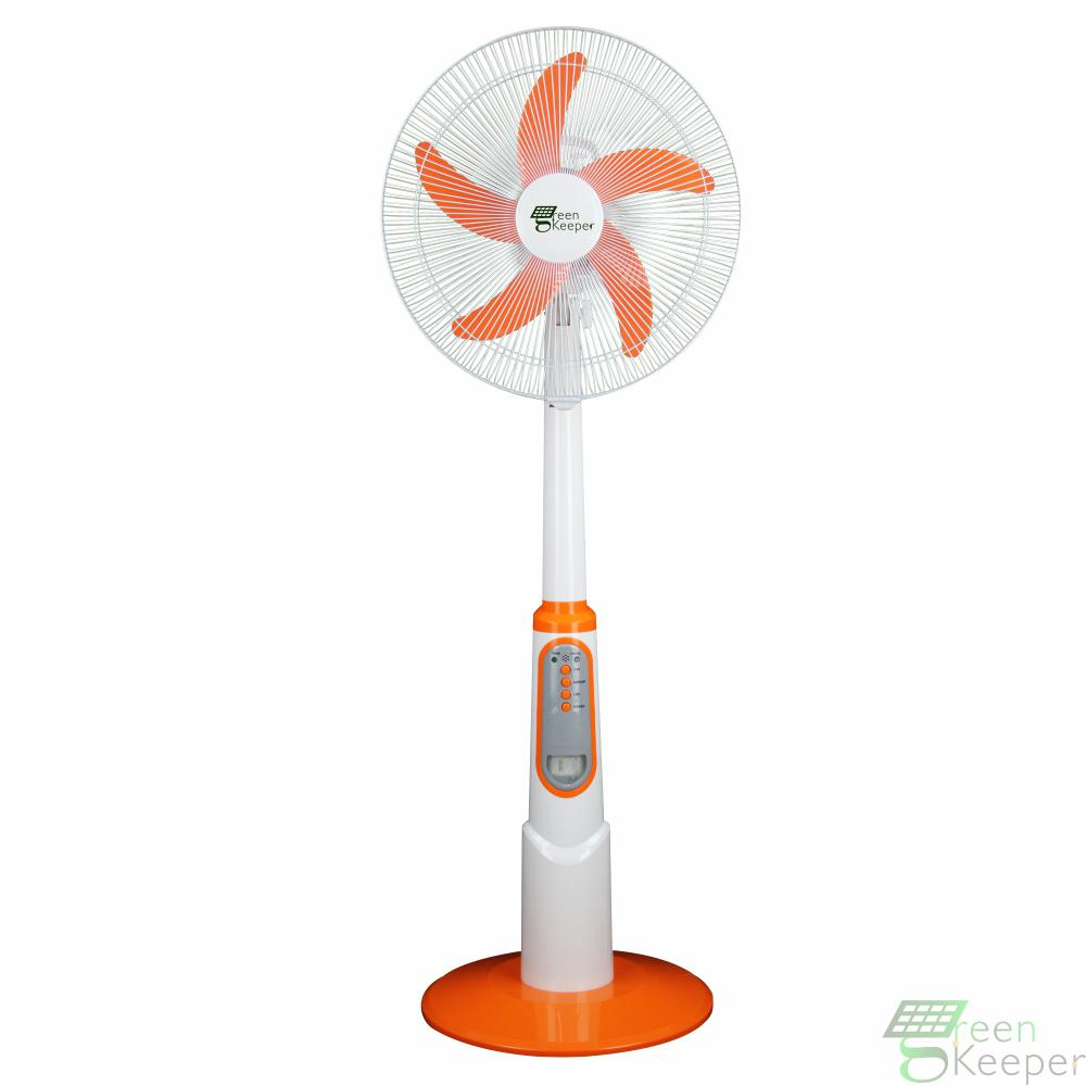 MODEL:GK-2636B-2  16inch Solar Rechargeable AC/DC stand fan