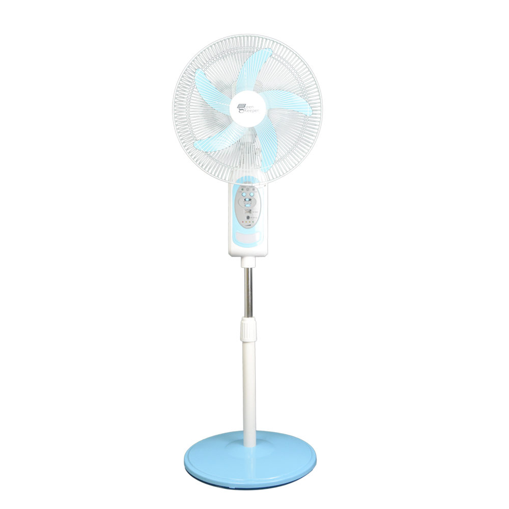 Solar Powered Rechargeable 16inch Floor Stand Fan:GK4216