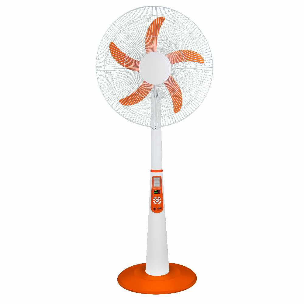 MODEL: GK-2118LCD 18inch Solar Rechargeable AC/DC stand fan